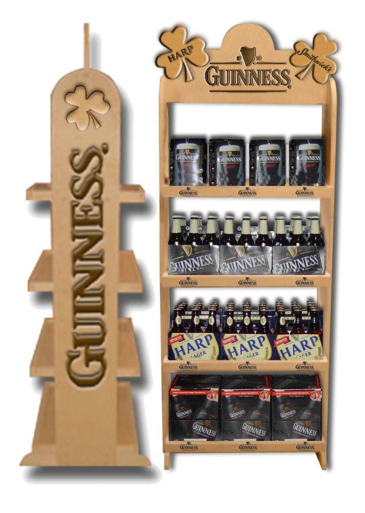 Wood Rack Beverage Displays