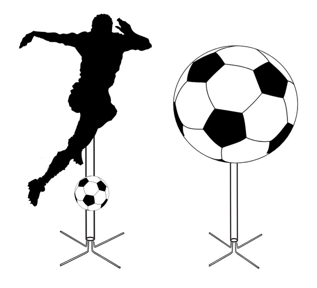 Soccer Pole Retail Display